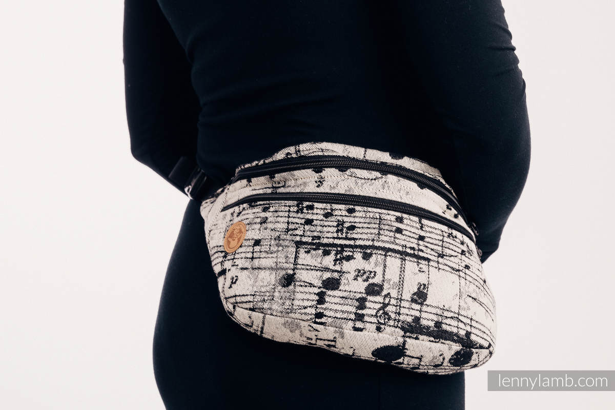 Waist Bag made of woven fabric, size large (96% cotton, 4% metallised yarn) - SYMPHONY GLOWING DUST #babywearing