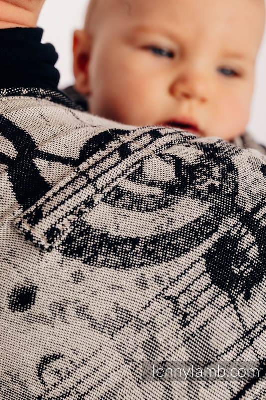 WRAP-TAI carrier Mini with hood/ jacquard twill / 96% cotton, 4% metallised yarn - SYMPHONY GLOWING DUST #babywearing
