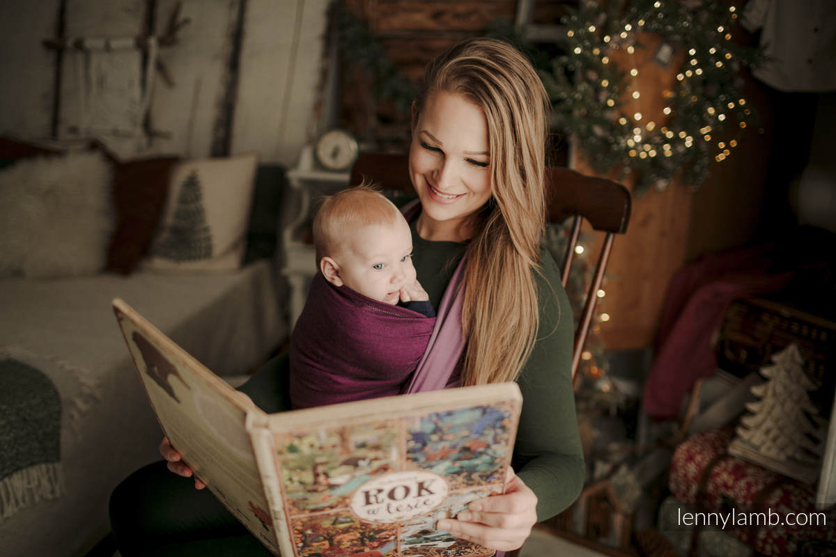 Chusta tkana, splot skośno-krzyżowy, (100% bawełna) - NOVA - SUPERNOVA - HANIA - rozmiar XS (drugi gatunek) #babywearing