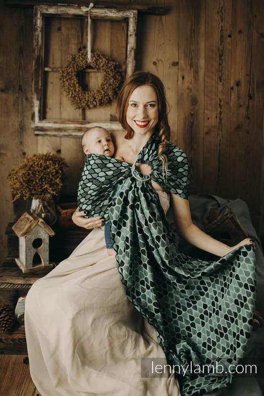 Ringsling, Jacquard Weave (100% cotton) - size 1,8m - NOVA - Joyful Time ZUZA - long 2.1m #babywearing