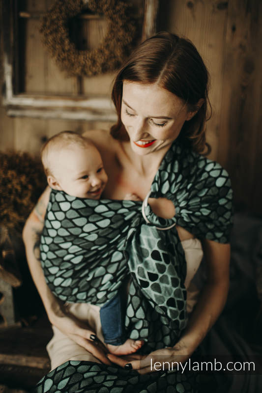 Ringsling, Jacquard Weave (100% cotton) - with gathered shoulder - NOVA - Joyful Time ZUZA - long 2.1m #babywearing