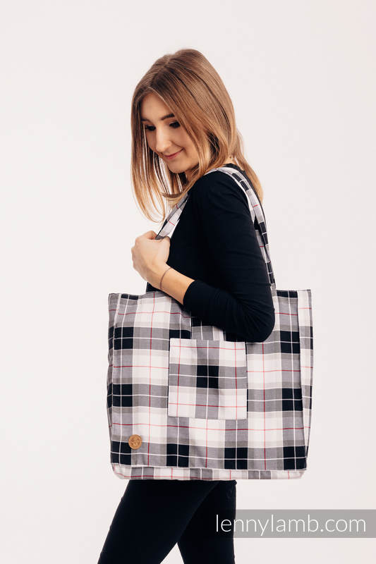 Shoulder bag made of wrap fabric (100% cotton) - ARCADIA PLAID - standard size 37cmx37cm #babywearing