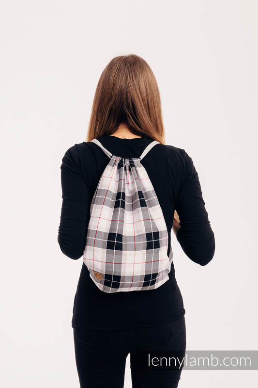 Sackpack made of wrap fabric (100% cotton) - ARCADIA PLAID - standard size 32cmx43cm #babywearing