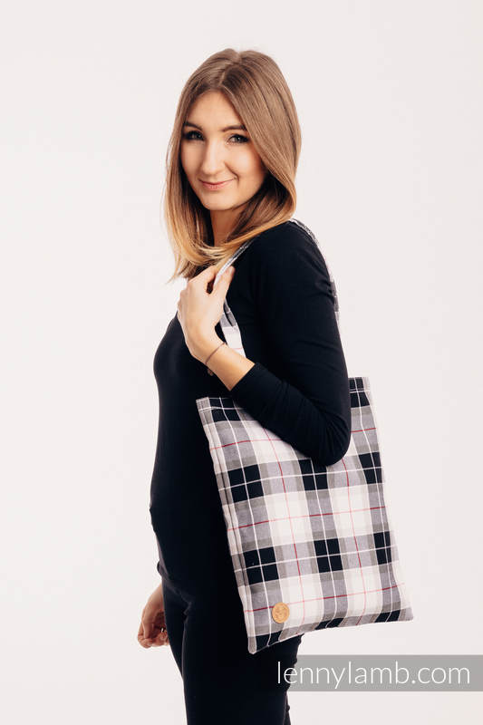 Shopping bag made of wrap fabric (100% cotton) - ARCADIA PLAID #babywearing