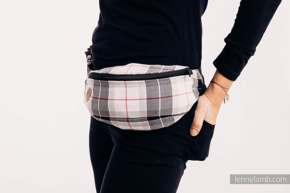 Waist Bag made of woven fabric, (100% cotton) - ARCADIA PLAID #babywearing