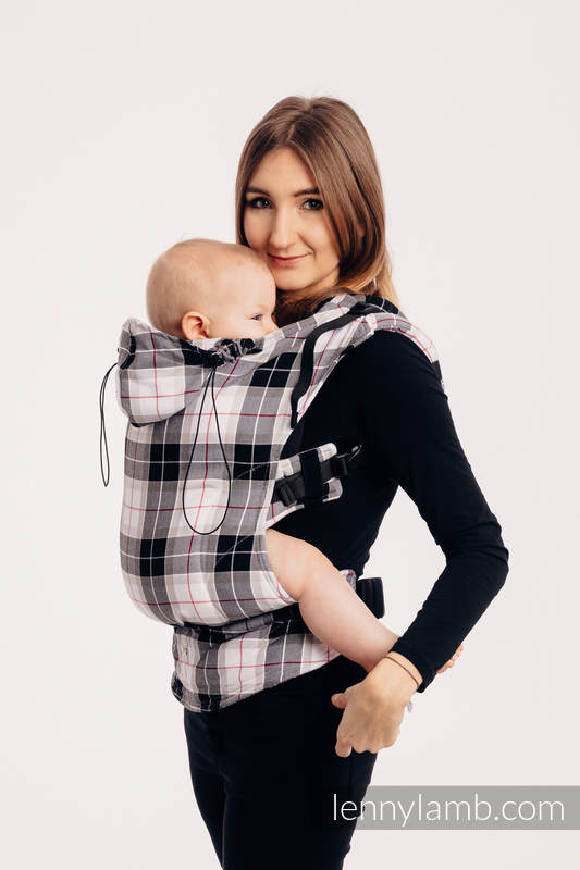 Ergonomic Carrier, Baby Size, twill weave 100% cotton - ARCADIA PLAID - Second Generation. #babywearing