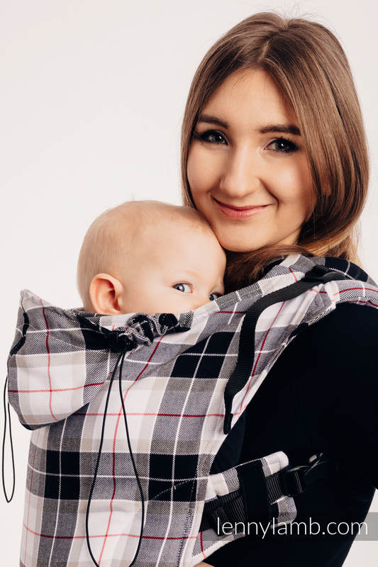 Ergonomic Carrier, Baby Size, twill weave 100% cotton - wrap conversion from ARCADIA PLAID - Second Generation. #babywearing