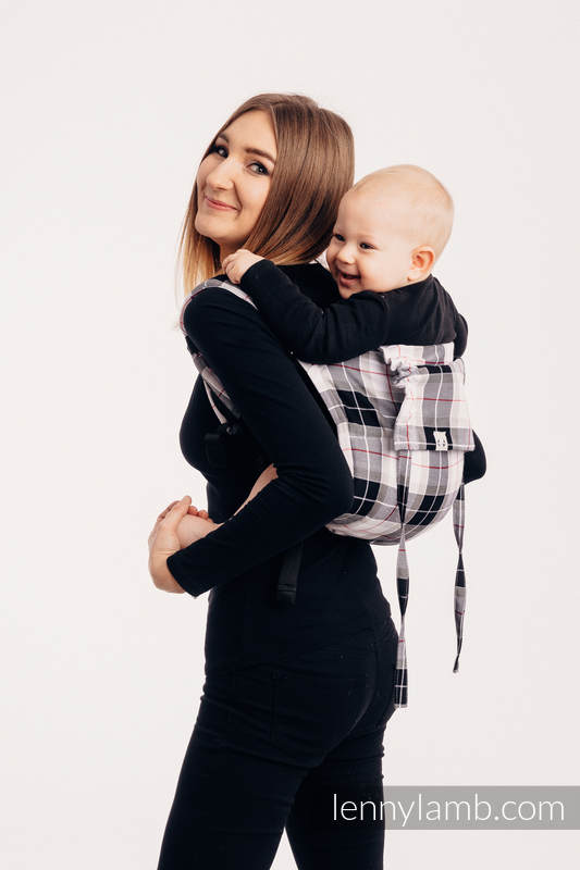 Lenny Buckle Onbuhimo, standard size, twill weave (100% cotton) - Wrap conversion from ARCADIA  PLAID #babywearing