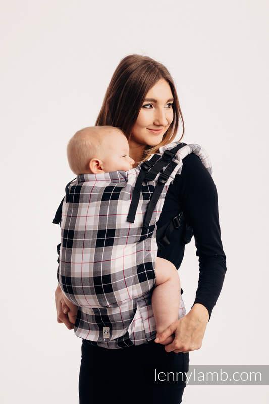 Nosidełko LennyUp z takniny chustowej, splot skośny, 100% bawełna , rozmiar standard - KRATA ARKADIA (drugi gatunek) #babywearing