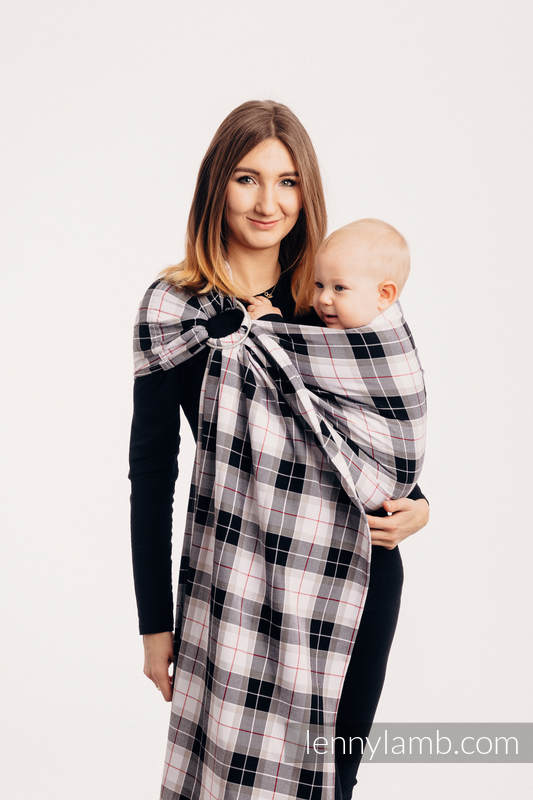 Ring Sling - 100% Cotton - Twill Weave, with gathered shoulder - ARCADIA PLAID #babywearing