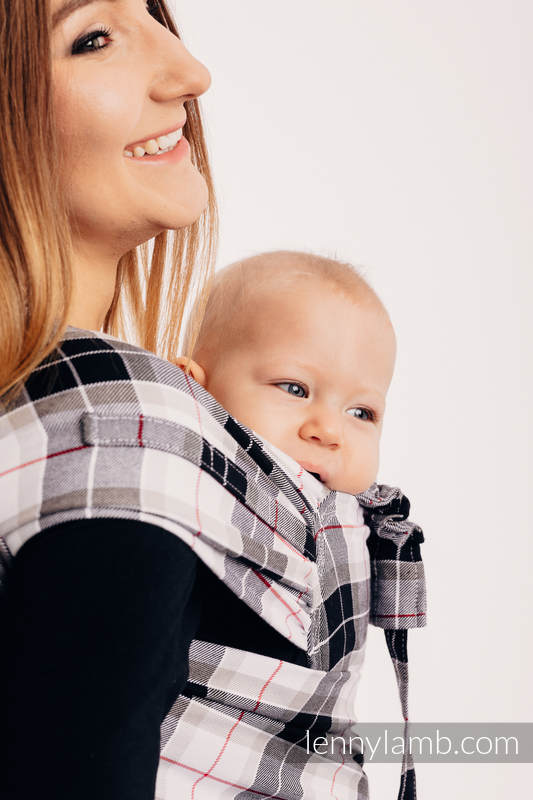 WRAP-TAI carrier Mini, twill weave - 100% cotton - with hood, ARCADIA PLAID #babywearing