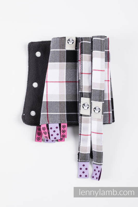 Drool Pads & Reach Straps Set, (60% cotton, 40% polyester) - ARCADIA PLAID #babywearing