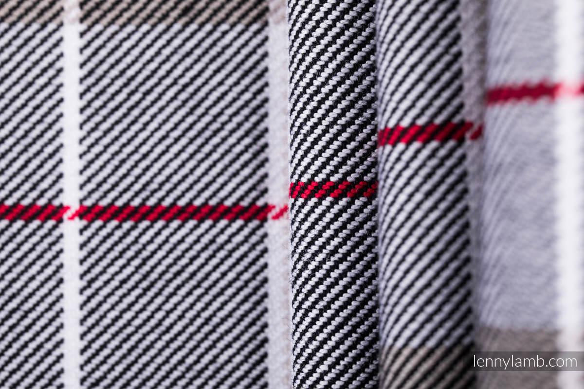 Chusta do noszenia dzieci, tkana splotem skośnym (100% bawełna) - KRATA ARKADIA - rozmiar XS #babywearing