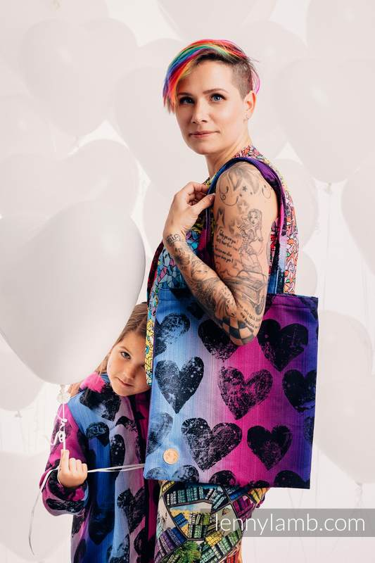 Shopping bag made of wrap fabric (100% cotton) - LOVKA PINKY VIOLET #babywearing