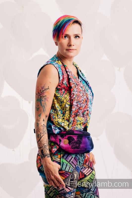 Waist Bag made of woven fabric, (100% cotton) - LOVKA PINKY VIOLET #babywearing