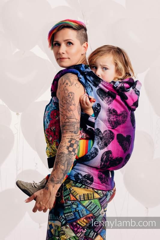Nosidełko Ergonomiczne z tkaniny żakardowej 100% bawełna , Baby Size, LOVKA PINKY VIOLET - Druga Generacja #babywearing