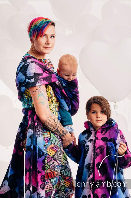 Abrigo para niñas - talla 104 - LOVKA PINKY VIOLET #babywearing