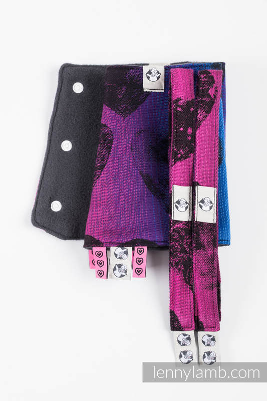 Drool Pads & Reach Straps Set, (60% cotton, 40% polyester) - LOVKA PINKY VIOLET #babywearing