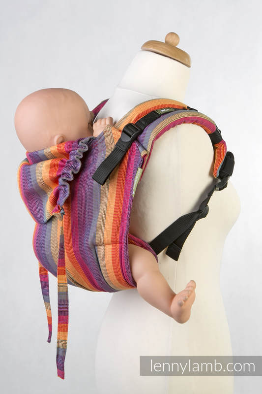 Lenny Buckle Onbuhimo, standard size, broken-twill weave (100% cotton) - Wrap conversion from SUNSET RAINBOW COTTON #babywearing