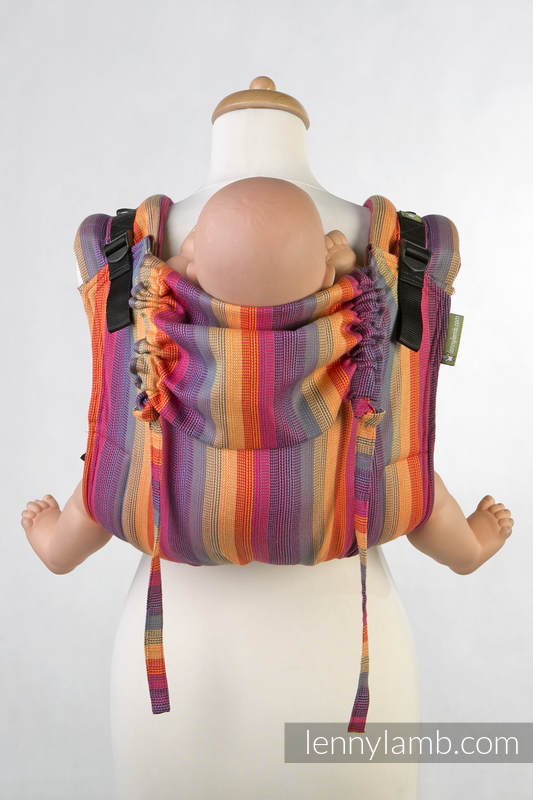 Lenny Buckle Onbuhimo baby carrier, standard size, broken-twill weave (100% cotton) - SUNSET RAINBOW COTTON #babywearing