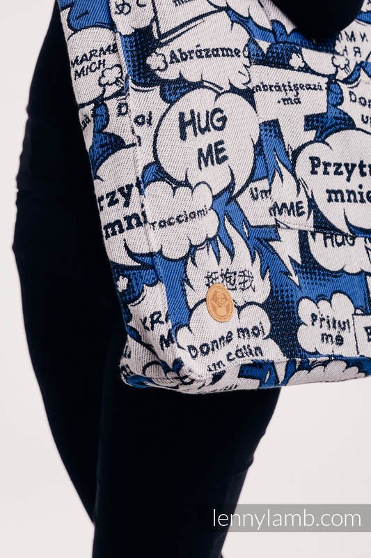 Shoulder bag made of wrap fabric (100% cotton) - HUG ME - BLUE - standard size 37cm x 37cm #babywearing