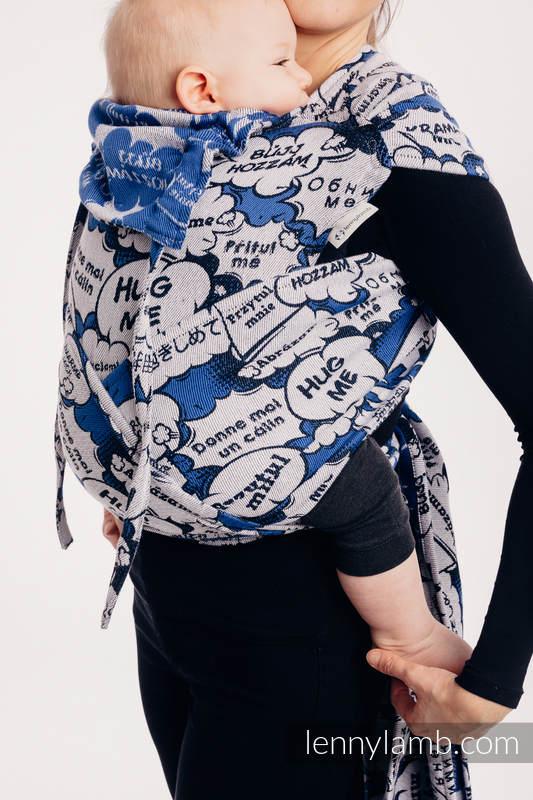 WRAP-TAI carrier Mini with hood/ jacquard twill / 100% cotton - HUG ME - BLUE  (grade B) #babywearing