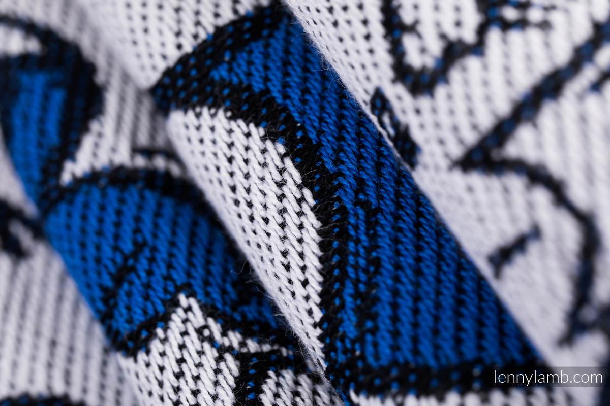 Baby Wrap, Jacquard Weave (100% cotton) - HUG ME - BLUE - size L (grade B) #babywearing
