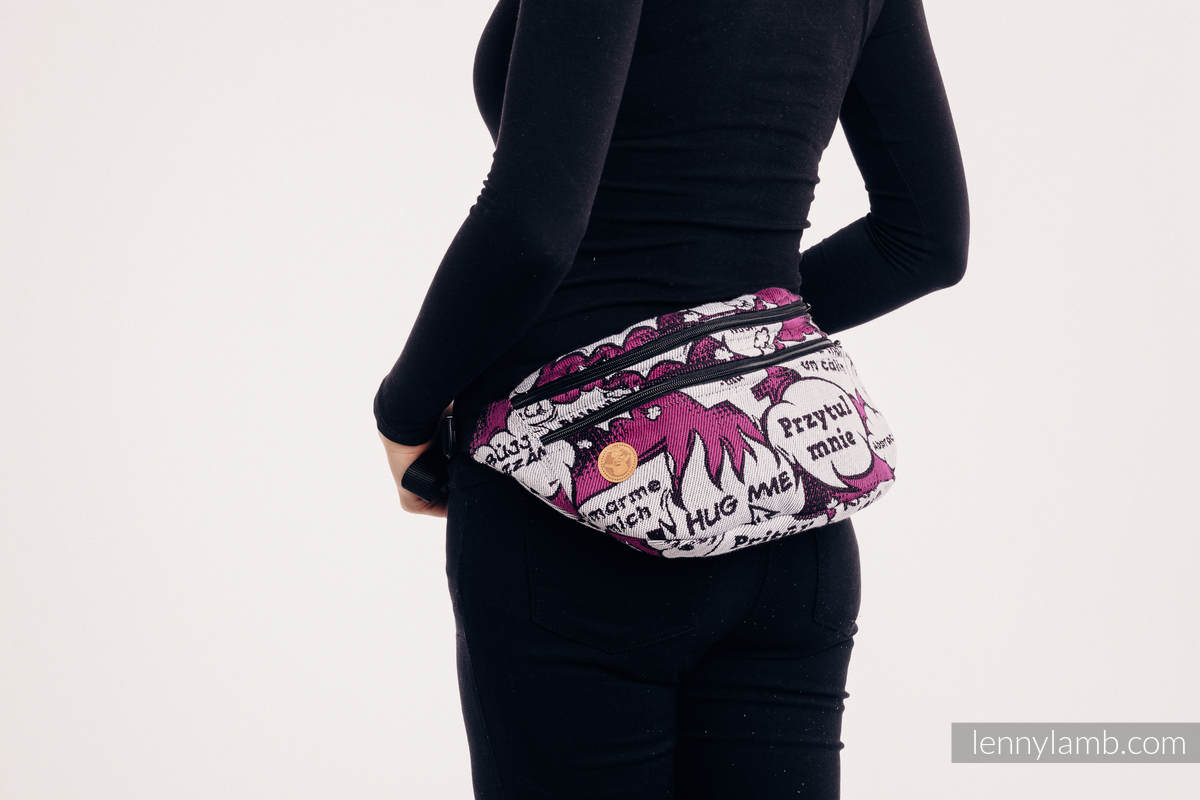 Gürteltasche, hergestellt vom gewebten Stoff, Große Größen  (100% Baumwolle) - HUG ME - PINK  #babywearing