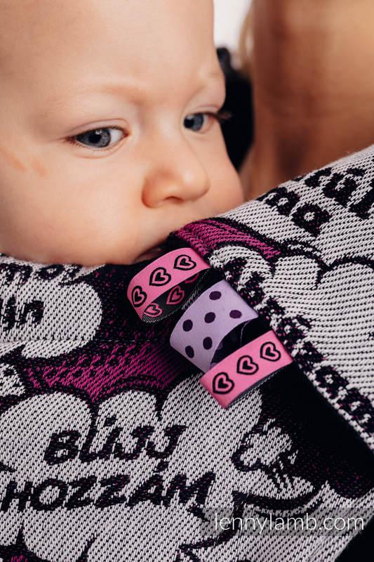 Nakładki Ochronne na Pasy Ramienne, (60% bawełna, 40% poliester) - Zestaw - PRZYTUL MNIE - RÓŻOWY  #babywearing