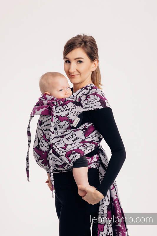 WRAP-TAI carrier Mini with hood/ jacquard twill / 100% cotton - HUG ME - PINK  #babywearing