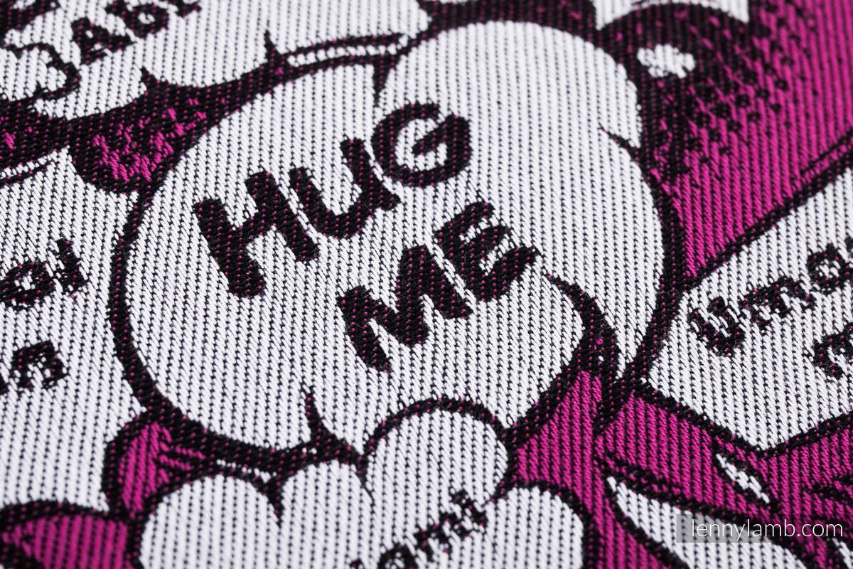 Baby Wrap, Jacquard Weave (100% cotton) - HUG ME - PINK - size XS #babywearing