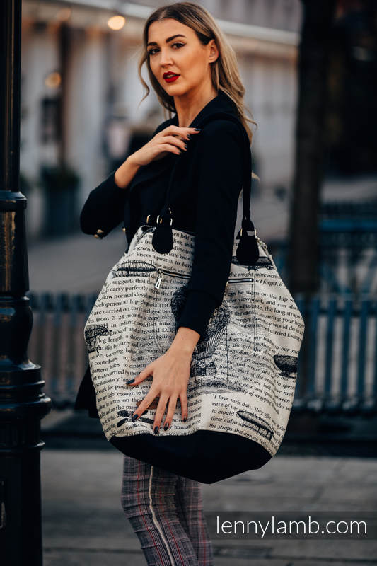 Large Handbag - UNIVERSE - FLYING DREAMS (66% cotton, 34% viscose) #babywearing