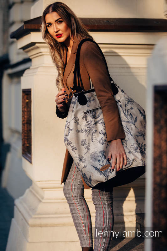 Large Handbag - UNIVERSE - HERBARIUM (66% cotton, 34% viscose) #babywearing