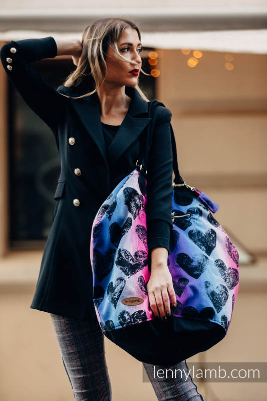 Large Handbag - UNIVERSE - LOVKA PINKY VIOLET (66% cotton, 34% viscose) #babywearing