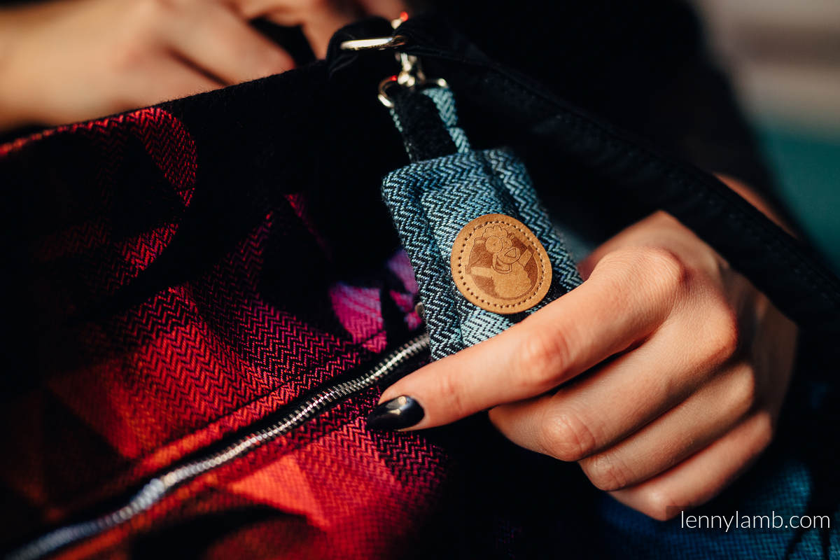 Large Handbag - UNIVERSE - SWALLOWS RAINBOW DARK (66% cotton, 34% viscose) #babywearing