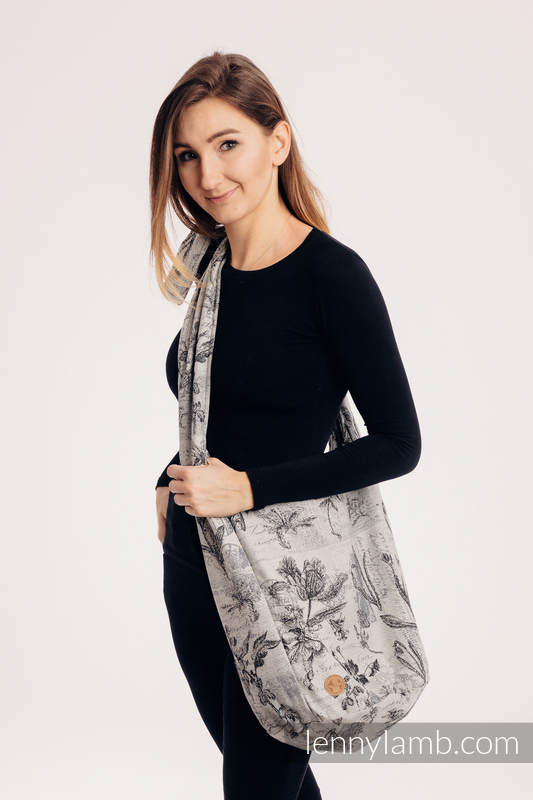 Hobo Bag made of woven fabric, 100% cotton - HERBARIUM ROUNDHAY GARDEN #babywearing