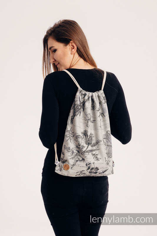 Sackpack made of wrap fabric (100% cotton) - HERBARIUM ROUNDHAY GARDEN - standard size 32cmx43cm #babywearing