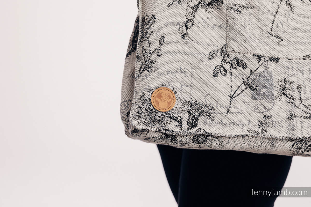 Shoulder bag made of wrap fabric (100% cotton) - HERBARIUM ROUNDHAY GARDEN - standard size 37cmx37cm #babywearing