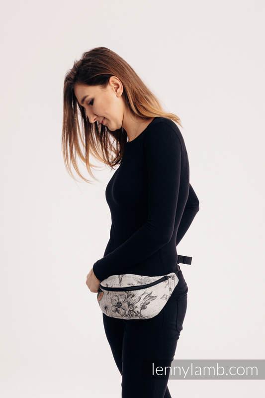 Waist Bag made of woven fabric, (100% cotton) - HERBARIUM ROUNDHAY GARDEN #babywearing
