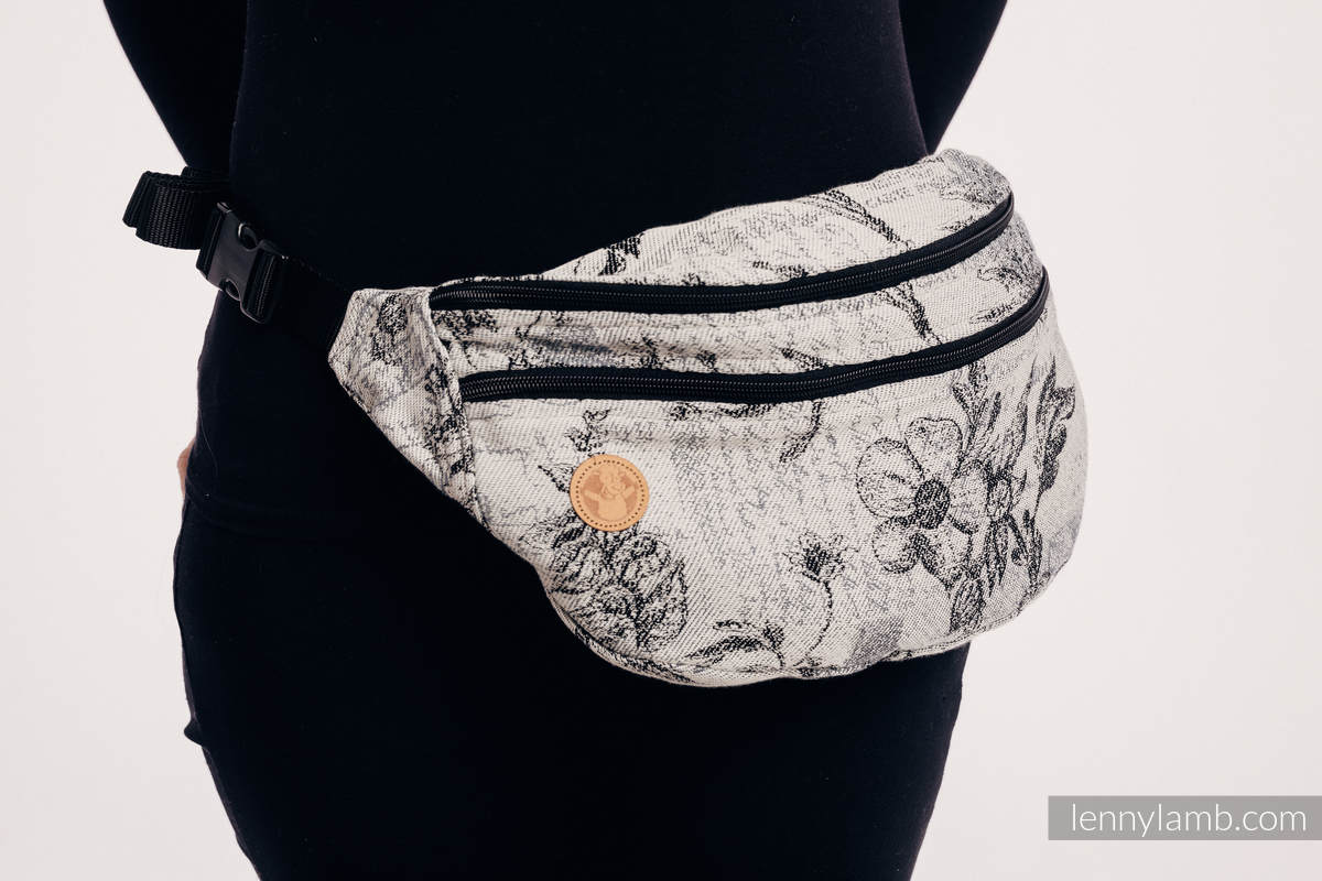 Waist Bag made of woven fabric, size large (100% cotton) - HERBARIUM ROUNDHAY GARDEN #babywearing