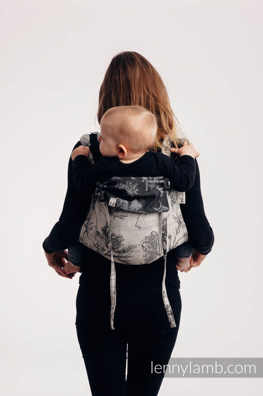 Lenny Buckle Onbuhimo baby carrier, standard size, jacquard weave (100% cotton) - HERBARIUM ROUNDHAY GARDEN #babywearing