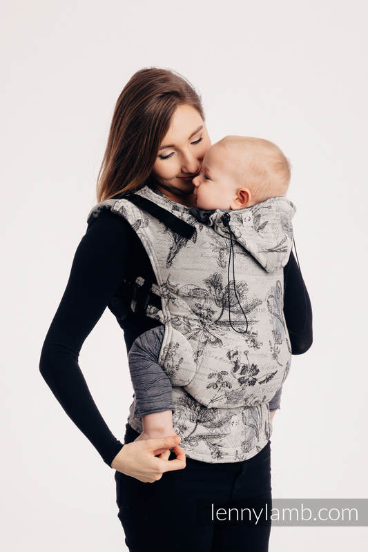 Ergonomic Carrier, Baby Size, jacquard weave 100% cotton - HERBARIUM ROUNDHAY GARDEN - Second Generation #babywearing