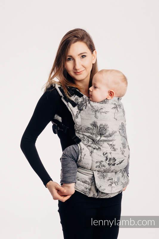 LennyUp Carrier, Standard Size, jacquard weave 100% cotton - wrap conversion from HERBARIUM ROUNDHAY GARDEN #babywearing