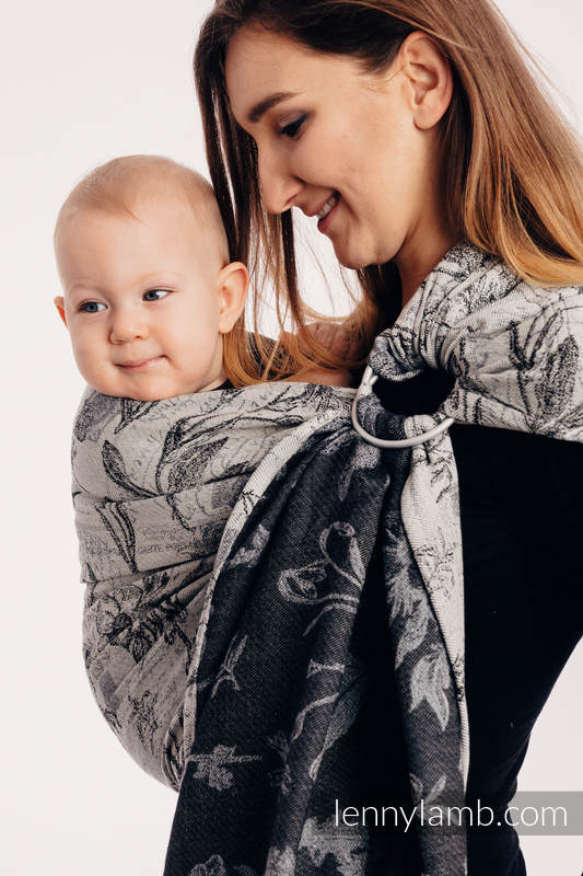 Ringsling, Jacquard Weave (100% cotton), with gathered shoulder - HERBARIUM ROUNDHAY GARDEN - standard 1.8m #babywearing
