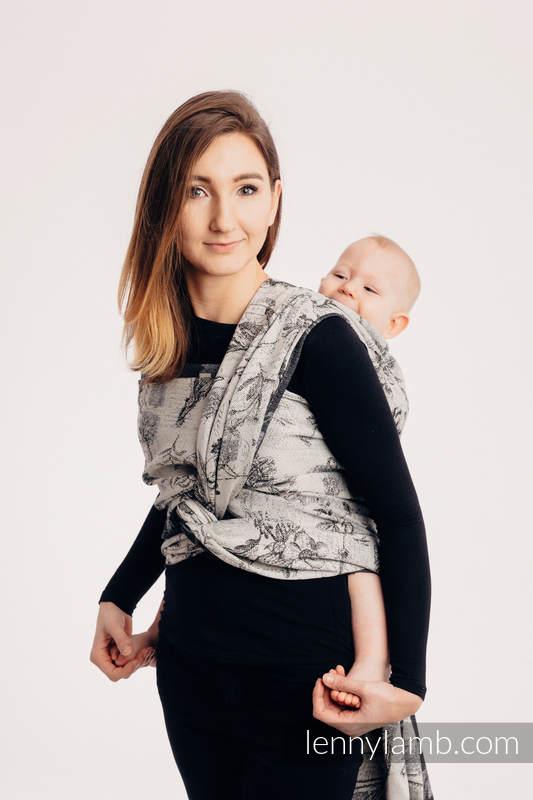 Baby Wrap, Jacquard Weave (100% cotton) - HERBARIUM ROUNDHAY GARDEN - size S (grade B) #babywearing