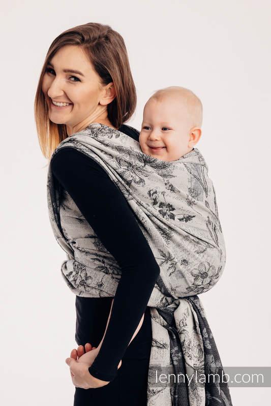 Baby Wrap, Jacquard Weave (100% cotton) - HERBARIUM ROUNDHAY GARDEN - size XS #babywearing