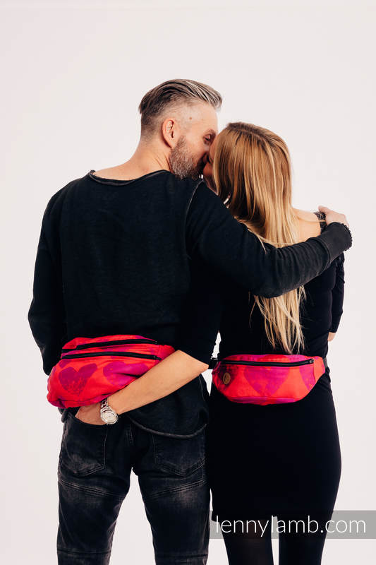 Waist Bag made of woven fabric, size large (100% cotton) - LOVKA MY VALENTINE #babywearing