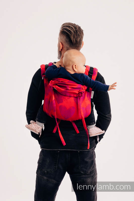 Lenny Buckle Onbuhimo baby carrier, standard size, jacquard weave (100% cotton) - LOVKA MY VALENTINE #babywearing