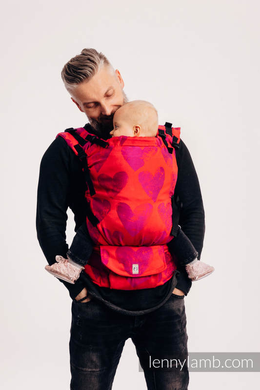 LennyUp Carrier, Standard Size, jacquard weave 100% cotton - LOVKA MY VALENTINE #babywearing