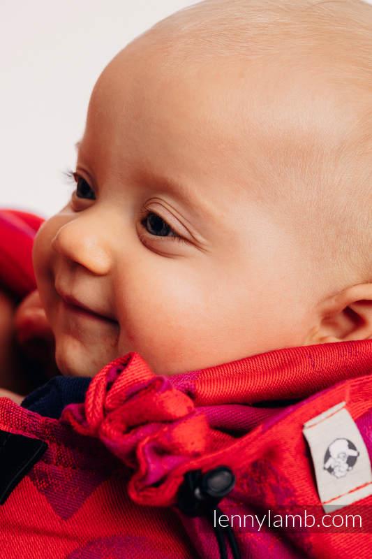 Nosidełko Ergonomiczne z tkaniny żakardowej 100% bawełna , Baby Size, LOVKA MOJA WALENTYNKA - Druga Generacja #babywearing
